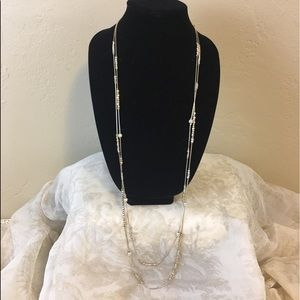 Chico's Double Strand Tiered Necklace